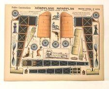 Pellerin D'Epinal-1375 Louis Blériot Model Airplane vintage petite paper model