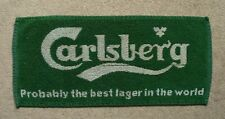 Carlsberg Lager Beer Bar Towel Pub Home Bar Used