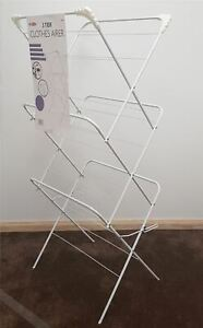 14M Clothes Airer 3 Tier Laundry Dryer Winged Folding In & Ooudoor Drying Rack