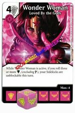 074 WONDER WOMAN Loved by the Gods - Common - WAR OF LIGHT - DC Dice Masters