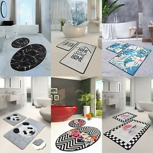 Non-Slip Bathroom Mat Set Soft Thin Luxury DIJITAL Design Bath Mats Carpet Rugs