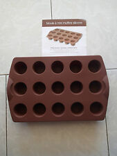 MOULE A MINI MUFFIN TUPPERWARE - NEUF - MARRON - 15 CAVITES 31 ML 29.8X19.4X4.4