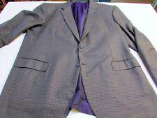 mens brioni 100% Wool blazer blue check windowpane sportcoat size 50 (LOC 11.8)