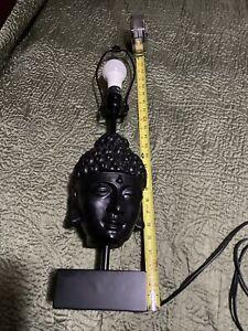 "24"" BUDDHA FACE CULPTURE TABLE LAMP"