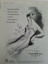 1946 womens Newform patented cut slip vintage fashion ad