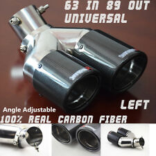 Left Round Dual EXHAUST Tail Muffler Tip Pipe Fit diameter 63mm Angle Adjustable