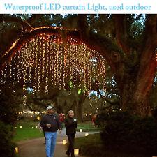 Cortina de Luces Para Navidad 300 LED  9.8ft x 9.8ft Luz Blanca