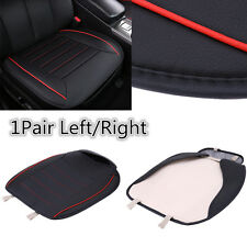 2x Leather Car Front Seat Cover Left+Right Seat Cushions Storage Bag Black/Red