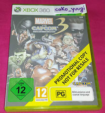 MARVEL VS CAPCOM 3 XBOX 360 PROMOTIONAL COPY NOT FOR RESALE TRES BON ETAT