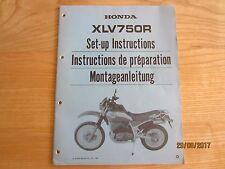 NOS Honda  XLV750 XLV750R Set up Manual Instructions Vintage Part