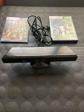 Microsoft 1414 Xbox 360 Kinect Sensor Bar and 2 Games - Black
