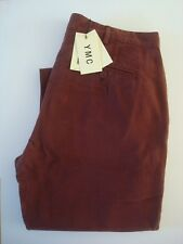 YMC Flat Front Chino Trousers - W32 / L32 - 100% Cotton - You Must Create - BNWT
