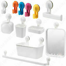 IKEA White Plastic Bathroom Shower Accessories Organizers Suction Cup Easy Fix