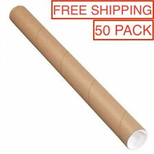 Shipping Poster Artwork Print Packing 2 x 30 3 Mailing Tubes with End Caps
