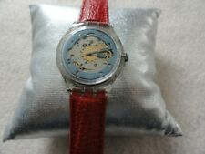 Swiss Made Swatch Automatic 23 Jewels Watch with a Swatch Leather Band