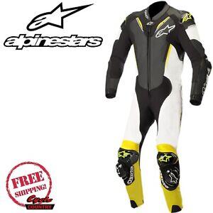 Alpinestars Atem V3 Leather Suit Size 50 Black/White/Yellow 3156518-125-50