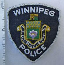 WINNIPEG CANADA POLICE - Used ORIGINAL Vintage SHOULDER PATCH ( WHITE LETTERS )