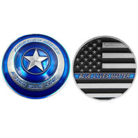 Thin blue line lives matter police america's shield commemorative medal NT