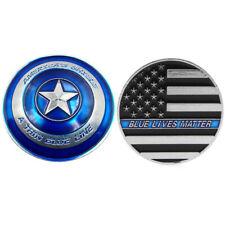 Thin blue line lives matter police america's shield commemorative medal FBDU