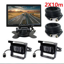 "4Pin Heavy Duty For Truck Bus Carvan Dual Reverse Camera Night Vision 7"" Monitor"