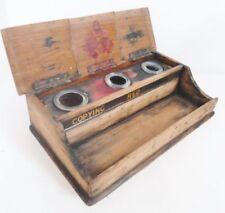 Wooden Inkwells Collectable Desktop Items