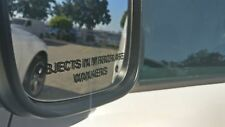 3 pack  Objects in mirror are Wankers Quality Funny 4x4 car Sticker 170x10mm