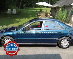 1994-1996 Honda Accord 4Pc Chrome Pillar Post Trim Stainless Steel Door Cover