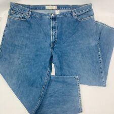 Levis 505 Mens Jeans 52 x 32 Blue Comfort Fit Tapered Leg Medium Wash