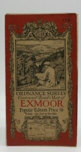 Ordnance Survey Road map Exmoor. Scale 1 inch to 1 mile.Published 1925. Ref. 119