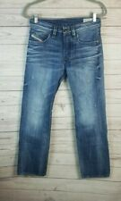Diesel Men's Medium Wash Button Fly Larkee Straight Leg Jeans 28 (Actual 30)