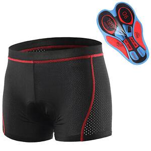 Herren Damen Fahrradhose MTB Shorts Radunterhose 3D Gel Sitzpolster Radlerhose