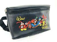 Walt Disney World Fanny Pack Vintage 1980s Black Wallet Waist Bag Collectors