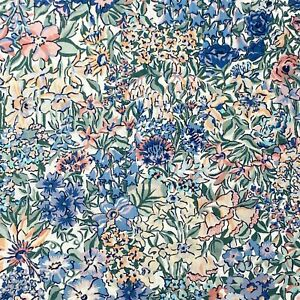 "1+5/8 yards Liberty London TANA LAWN ""A Castle Garden"" Cotton Lawn Fabric SS19"