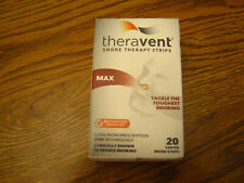 1 Theravent MAX Snore Therapy Strips 20 strips BB 2/21 SEALED COLLECTIBLE