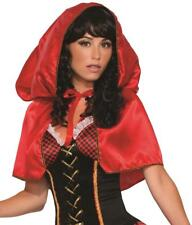 Little Red Riding Hood Hooded Cape Fancy Dress Halloween Adult Costume Accessory