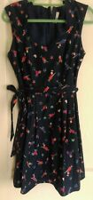 H! Henry holland dress 14 cocktail glasses 50s blue rockabilly fit and flare