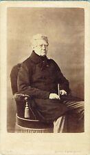 Photo cdv : Mayer et Pierson ; Etienne-Denis Duc de Pasquier , vers 1861