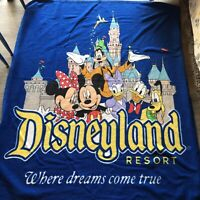 "Disneyland Resort Walt Disney World Fleece Blanket Throw 45"" x 55""  Mickey Mouse"