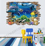 Huge 3D Under the Sea Dolphin Turtle Fish Wall Sticker Decal Home Decor Bathroom