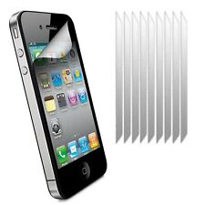 10x CLEAR Plastic Screen Protector Film Guard Covers for Apple iPhone 4 / 4S