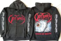 OBITUARY CAUSE OF DEATH HOODIE ZIPPER OFFICIAL Kapuzenjacke Zip Limited Ltd