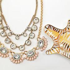 Ann Taylor Loft Pink Cabochon Crystal Fan Statement Necklace NWOT $79.50 UNIQUE
