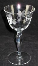 "Crystal Cordial Glass - Etched Poinsettia & Leaf - 5 1/8"" Cordial"