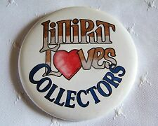 LILLIPUT LANE Promotional Pin Back Button LILLIPUT LOVES COLLECTORS