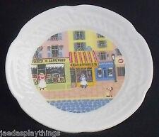 "Lourioux Porcelain MERCHANTS ROW Canape Small Plate France Charcuterie 5.5"""