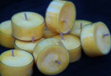 10pk 120hrburn Yellow Gold Soy Tea Light Candles Choose Your Scent Postage