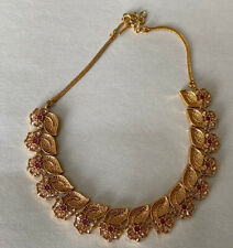 Indian Bollywood Gold Plated Kundan Necklace Earring Jewelry Set Fashion Womens