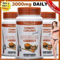TURMERIC CURCUMIN PILLS 95% CURCUMINOID LONGA LINN PURE TUMERIC PILL ANTIOXIDANT