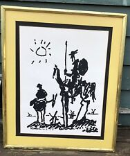 DON QUIXOTE1955 VINTAGE FRAMED ART LITHO PRINT BY PABLO PICASSO