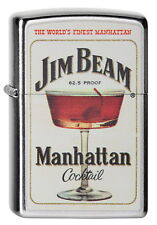 ZIPPO Feuerzeug JIM BEAM MANHATTAN COCKTAIL Glas Whiskey NEU OVP Sammlerstück!!